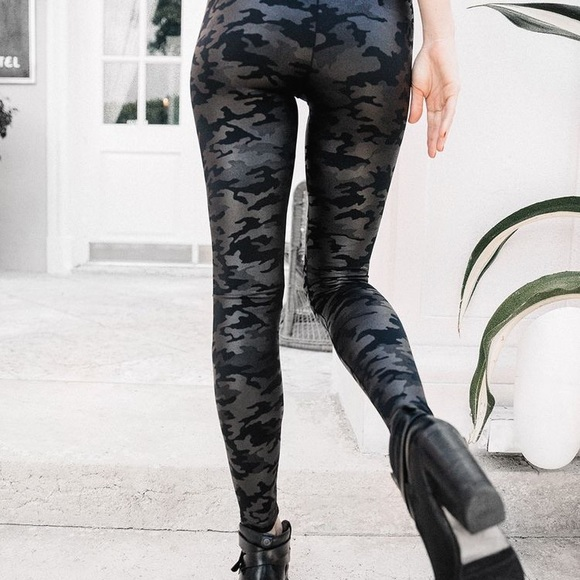 f0531ff63 Spanx Faux Leather Camo Leggings ❣️